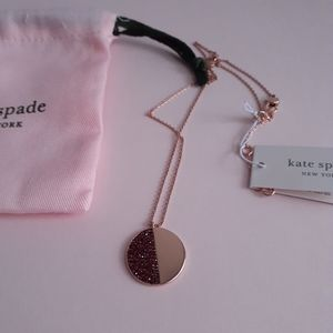 Burgundy/Rose Gold Necklace by Kate Spade NWT